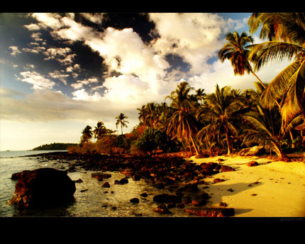 wallpaper landscape beach. Beach Sunset wallpaper