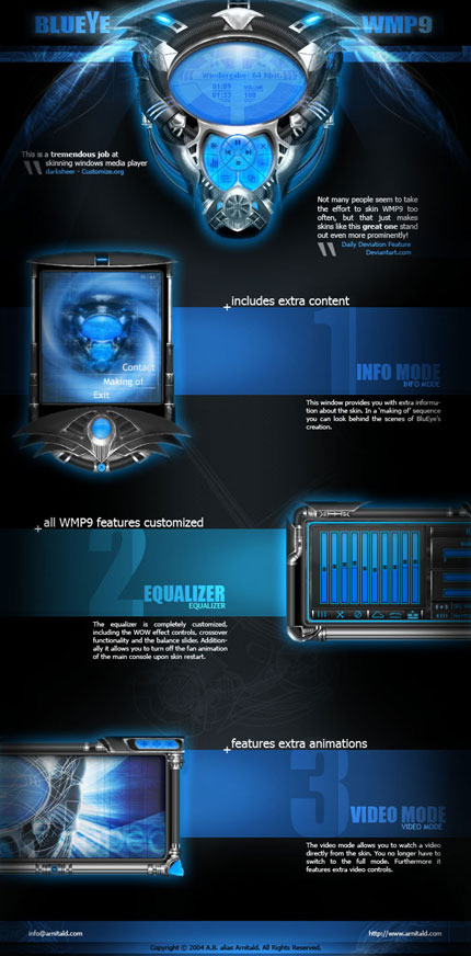 BluEye Windows Media Player skin