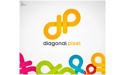 Diagonal Poxel logo