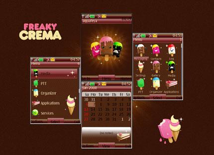Freaky Crema Nokia theme