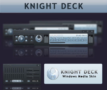 Knight Deck Media Windows Media Player skin