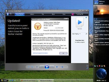Longhorn Slate media player Media Windows Media Player skin