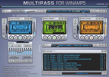 Multipass 1.4 Winamp skin