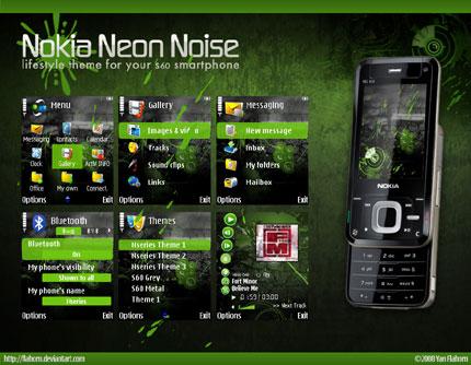 Neon Noise Nokia theme