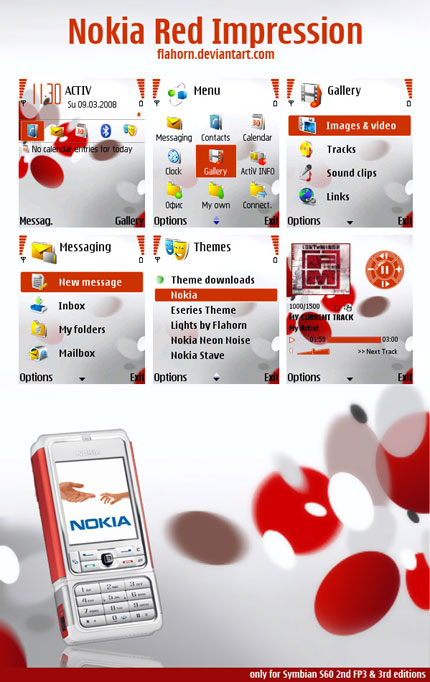 Red Impression Nokia theme