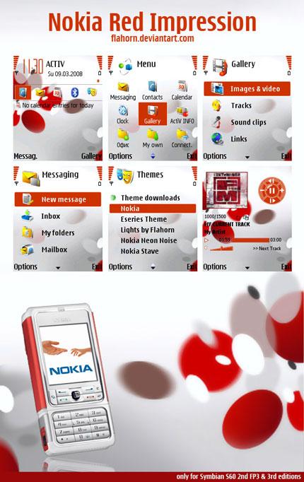 Red Impression Nokia theme