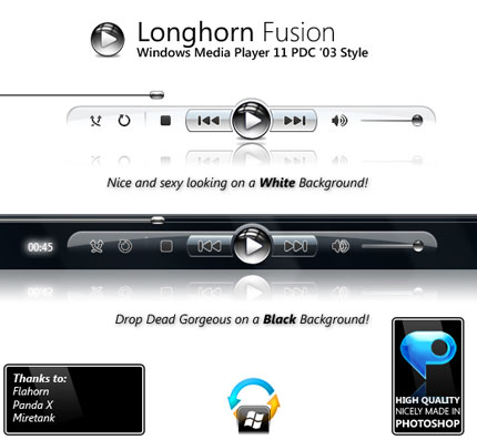 PDC '03 Windows Media Player skin