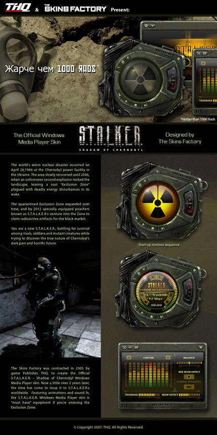 Stalker Windows Media Player skin