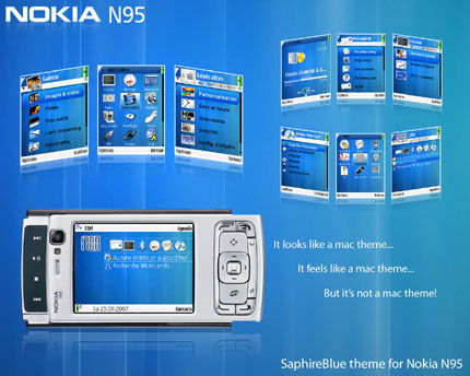 SaphireBlue for symbian 3rd Nokia theme