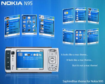 SaphireBlue for symbian 3rd Nokia theme