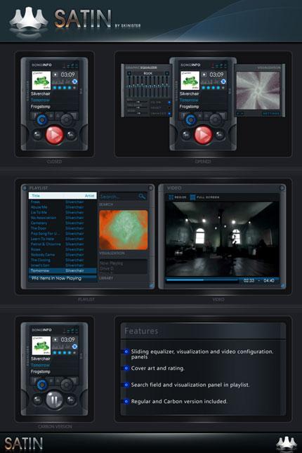 Satin Windows Media Player skin