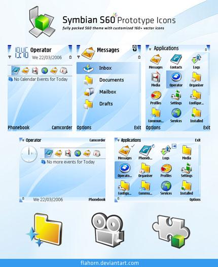 Symbian S60 Prototype Nokia theme