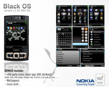Black.OS v1.4 Nokia theme
