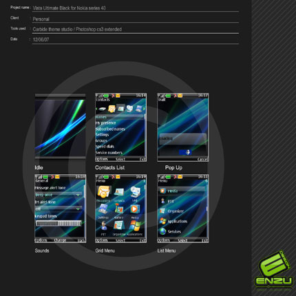 Vista Ultimate Black Nokia theme