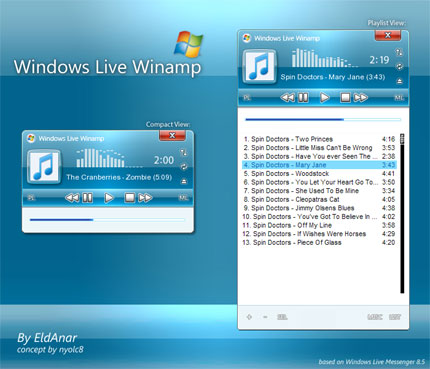 Windows Live Winamp skin