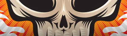 Editorial Illustration: Alien Skull