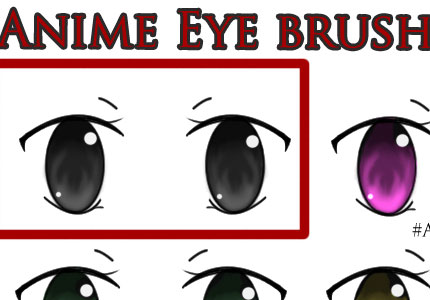 Anime eye Photoshop brush