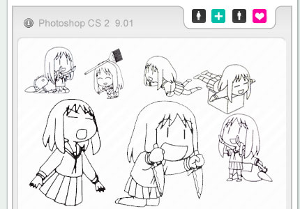 Azumanga Daioh photoshop brush by chaos-kaizer