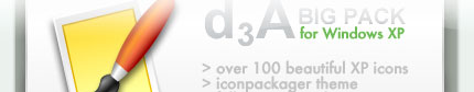 d3A Big Pack for IconPackager