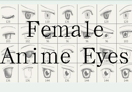 Female anime eyes updated Photoshop brush