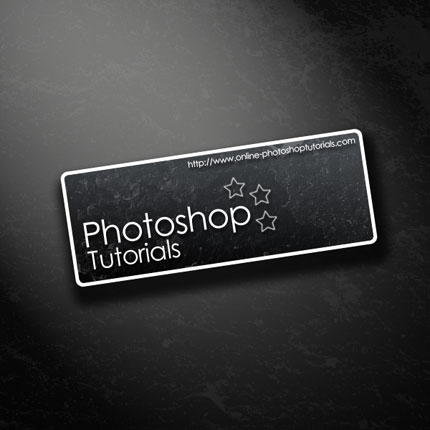 Making a Sign/Banner Using Light and Shadow Photoshop tutorial
