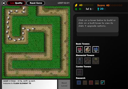 Make a Flash game like Flash Element Tower Defense