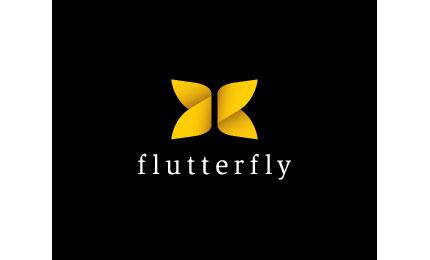 Flutterly logo