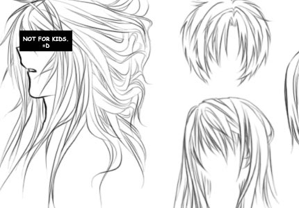 Anime hair brush by orexchan hairbrusho how to draw