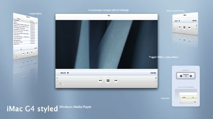iMac G4 styled Windows Media Player skin