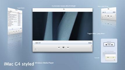 iMac G4 styled Windows Media Player skin