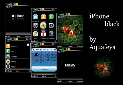 iPhone black.v2 Nokia theme