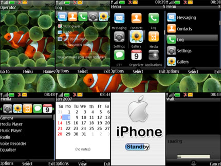 iPhone for Nokia S40v3 Nokia theme