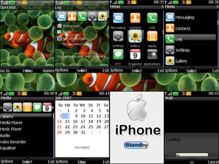 iPhone for Nokia S40v3 Nokia theme