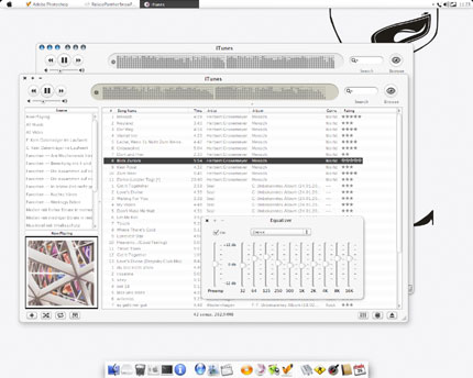 iTunesSnow Windows Media Player skin