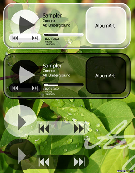 Glassy Windows Media Player skin