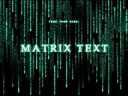 Matrix text effect