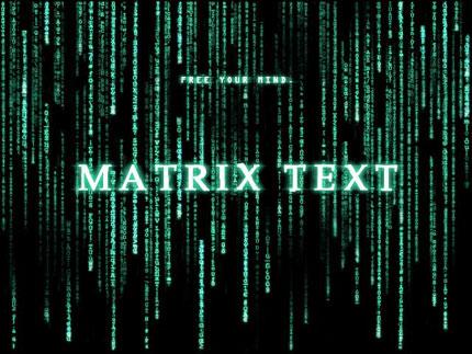 Matrix text effect