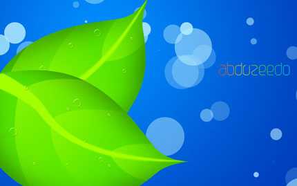 Splashy Leaf Wallpaper In Photoshop