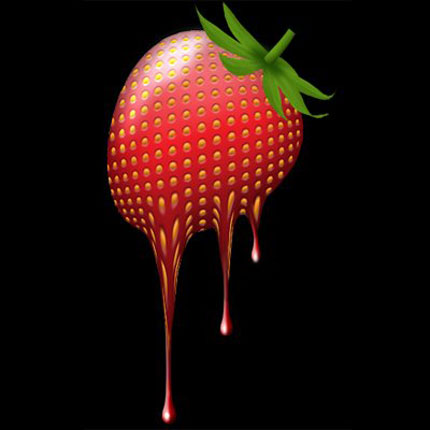 Design a melting Strawberry in Photoshop