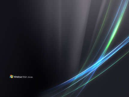 Black Windows Vista Ultimate Wallpaper