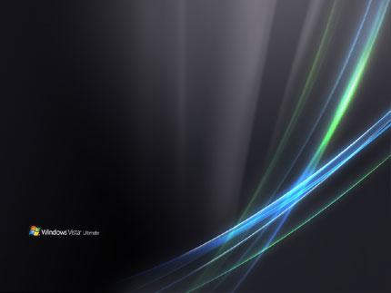 Black Windows Vista Ultimate Wallpaper