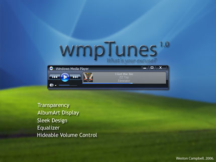 wmpTunes Windows Media Player skin