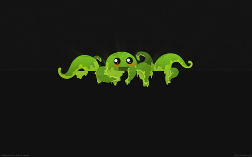 8 Arm Creature vector wallpaper