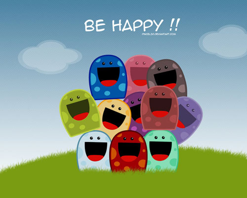 Be Happy - Bugs vector wallpaper