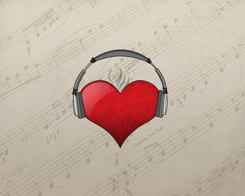 Everybody Loves Music vector wallpaper