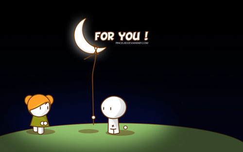 For you... the moon vector wallpaper