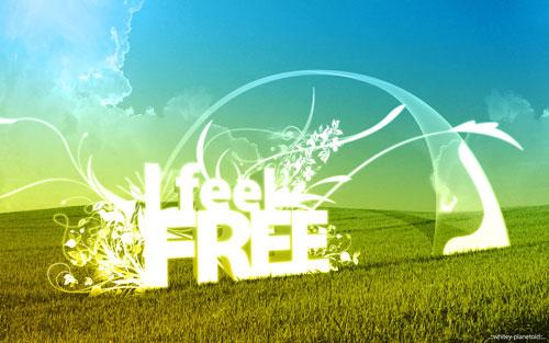 free wallpaper vector. I Feel FREE vector wallpaper