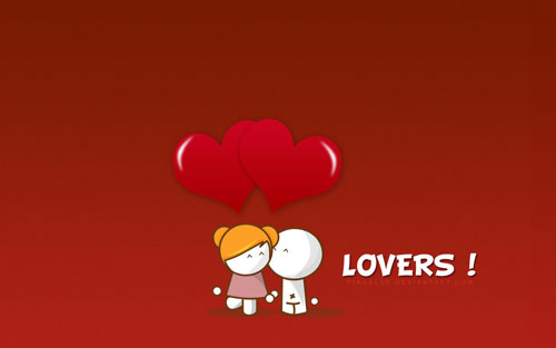 Lovers vector wallpaper