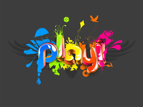 Play vector wallpaper