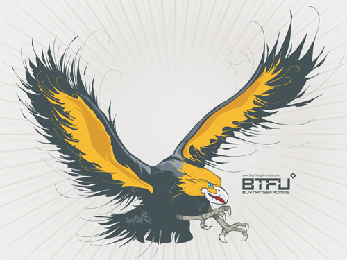 The BTFU Phoenix rises vector wallpaper